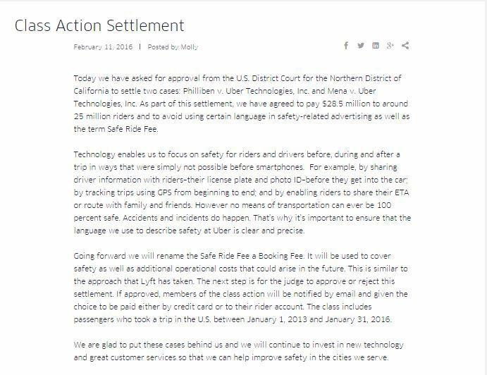 Uber settlement