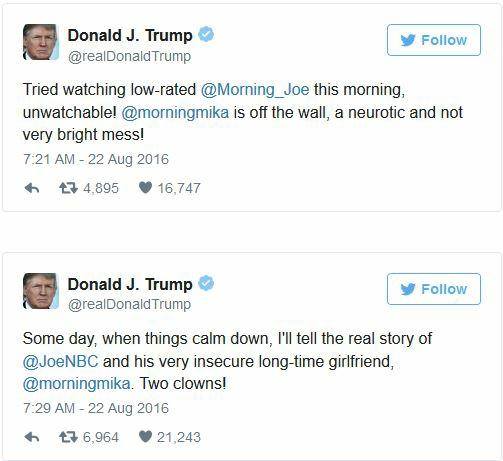 Trump to Morning Joe