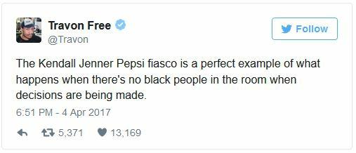 Pepsi ad tweet