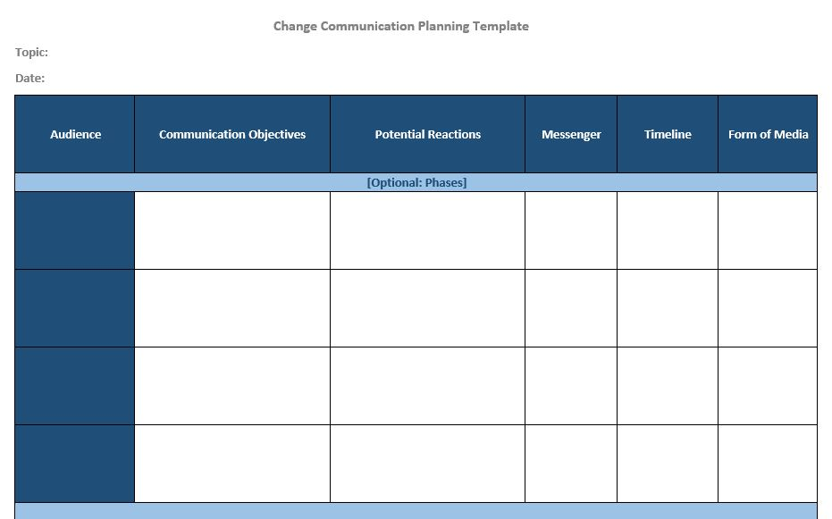 Communication Planning Template -
