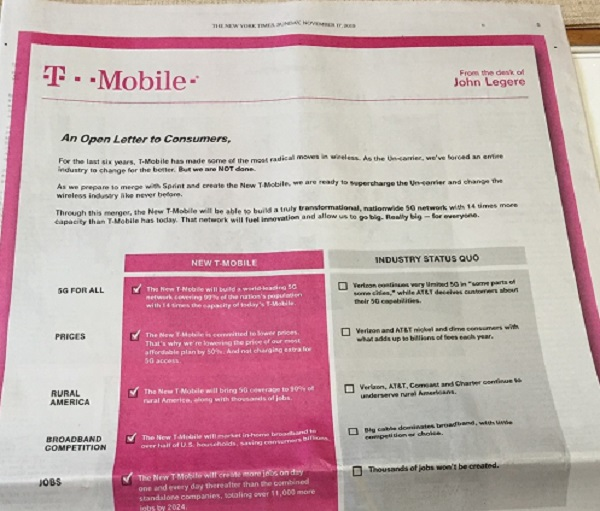Leadership Character And Communication T Mobile S Full Page Ad