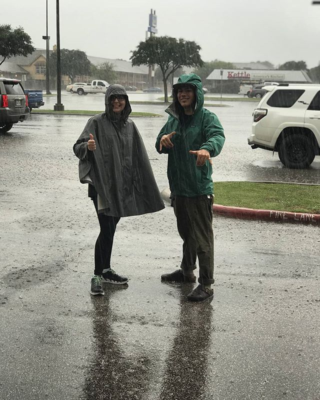 2 out of 2 would recommend getting your rainwear gear at the bear. 100% approval rating!👍🤙 #beprepared #rain #rainydays #waterproof #gigem #hangloose