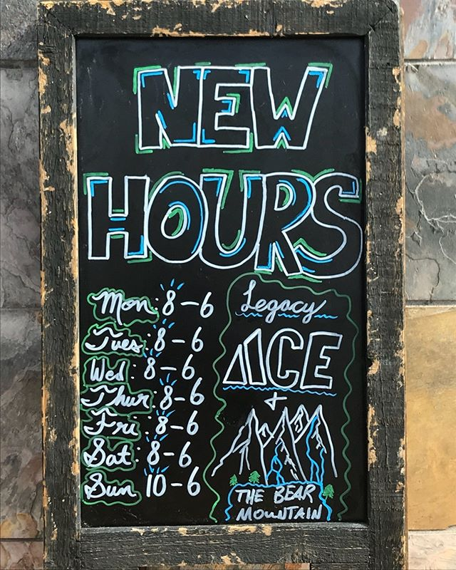 Just incase y'all didn't know our new store hours will be as posted on the sign!