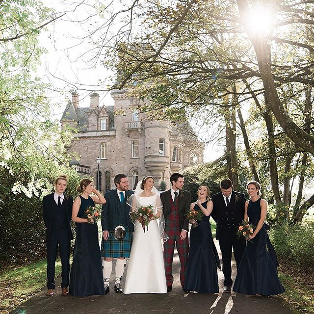 Here's another from the gorgeous wedding of Nicola and Neal at Cornhill Castle #squadgoals
