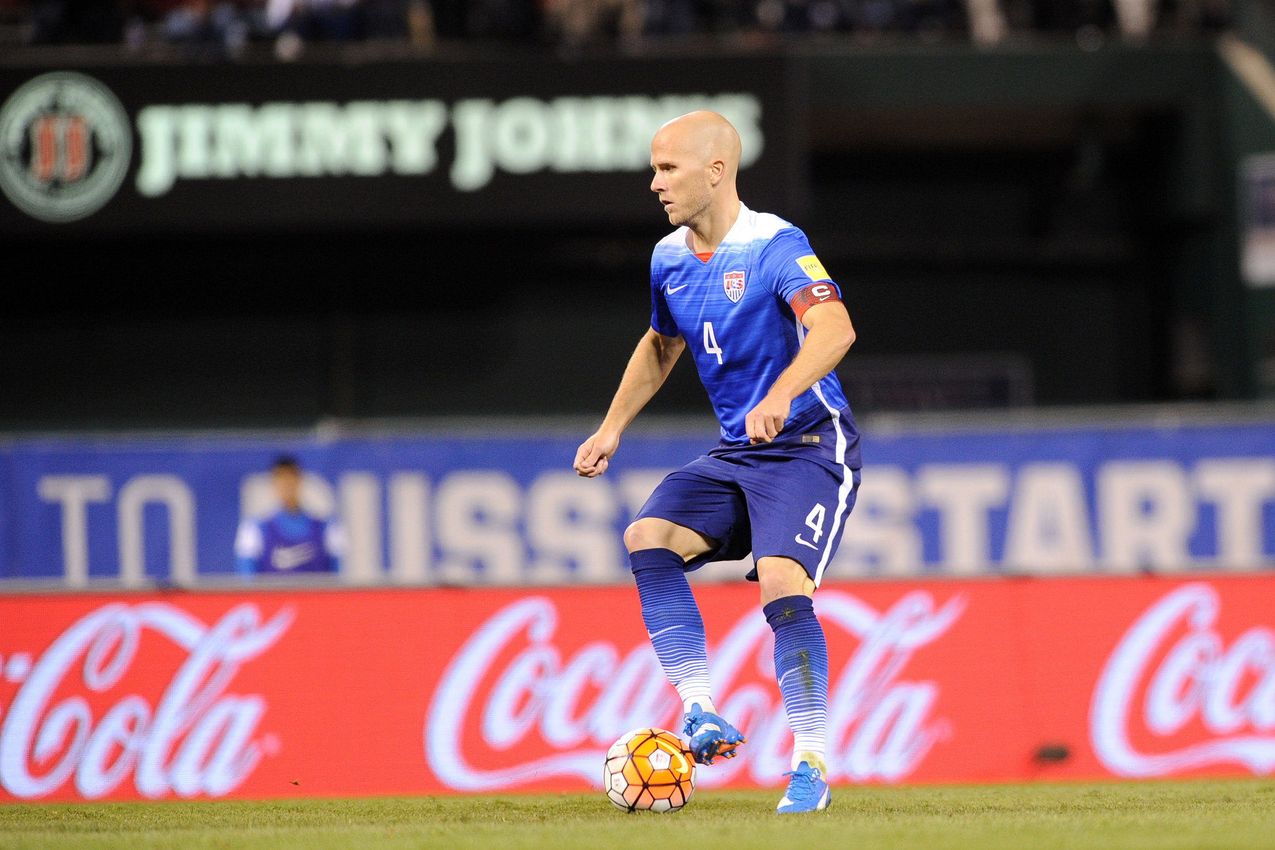Michael Bradley St. Louis, Mo. - Friday, November 13, 2015: The USMNT defeat St. Vincent and the Grenadines 6-1 in their 2018 FIFA World Cup Qualifying match at Busch Stadium.