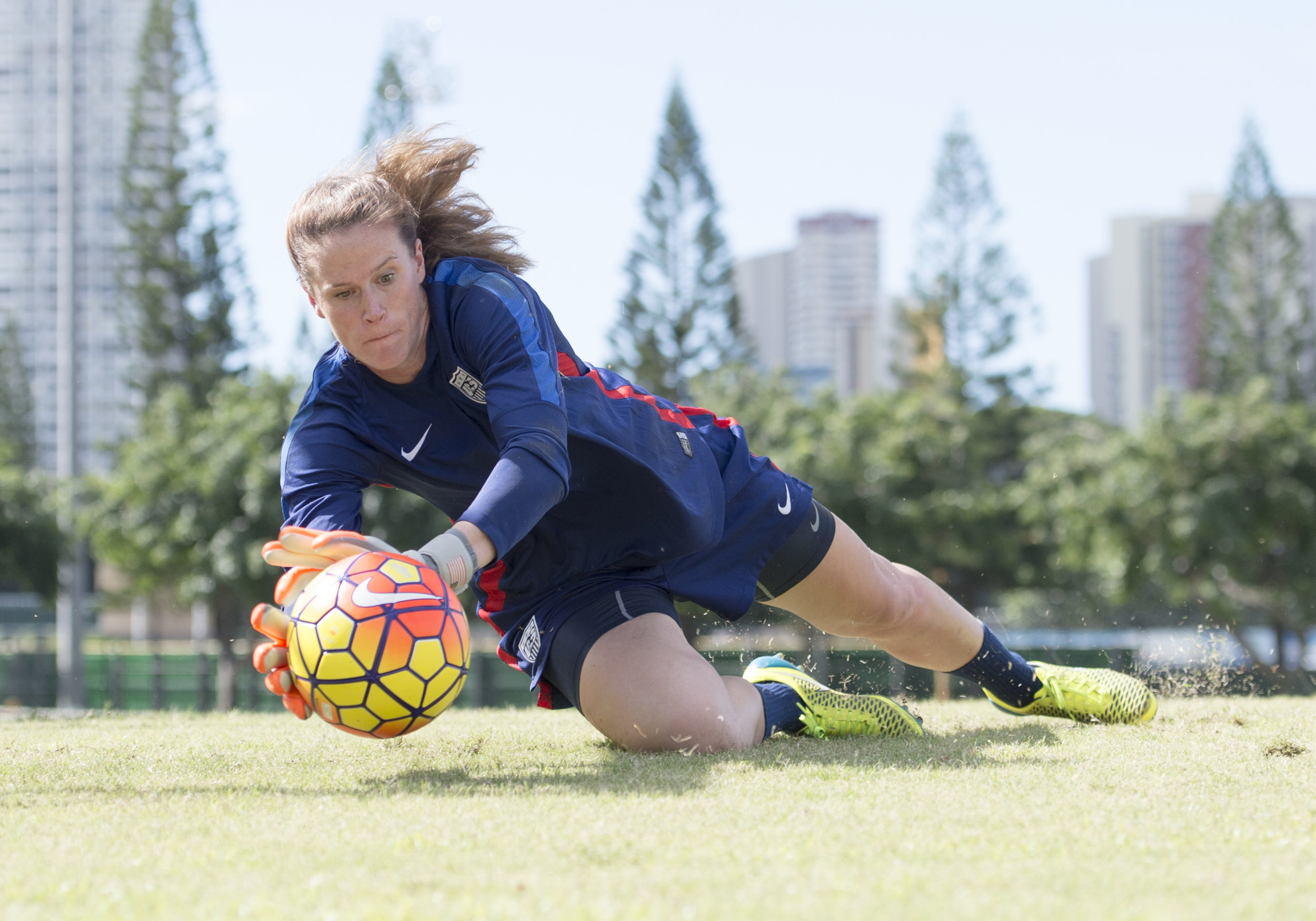Honolulu, HI - December 3, 2015: The USWNT trained in preparation for their game against Trinidad & Tobago during the Victory Tour. Photo by Brad Smith