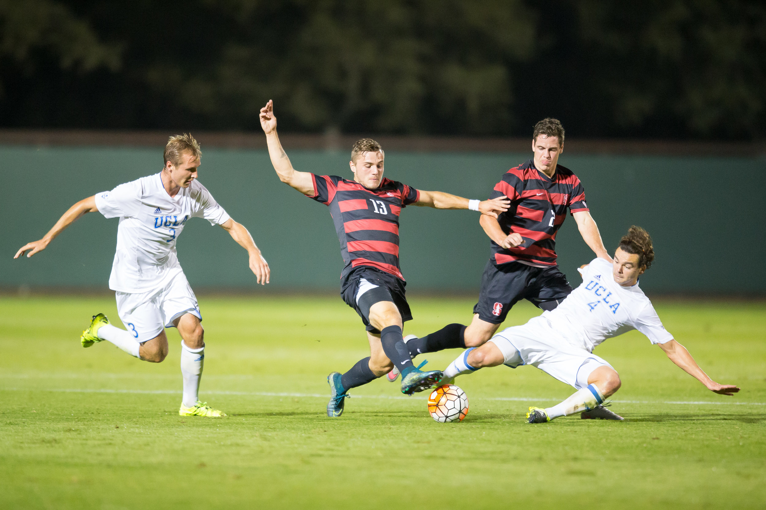 Jordan Morris - Stanford, CA - October 23, 2015: Stanford Men's Soccer vs UCLA. Photo by Casey Valentine