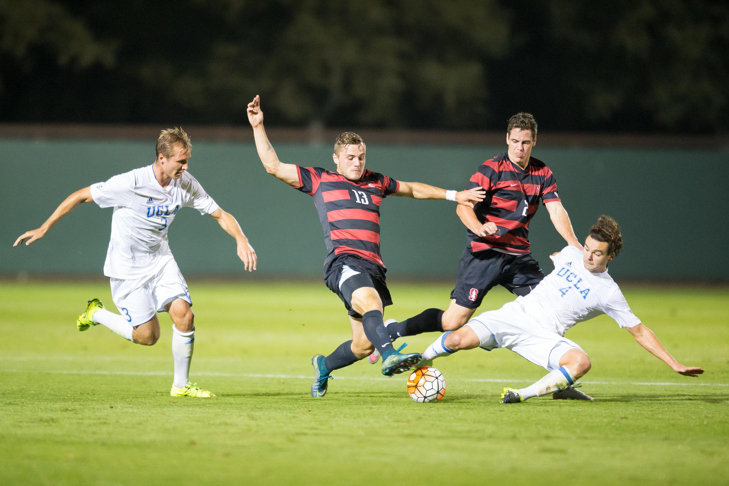 Jordan Morris - Stanford, CA - October 23, 2015: Stanford Men's Soccer vs UCLA. Photo by Casey Valentine