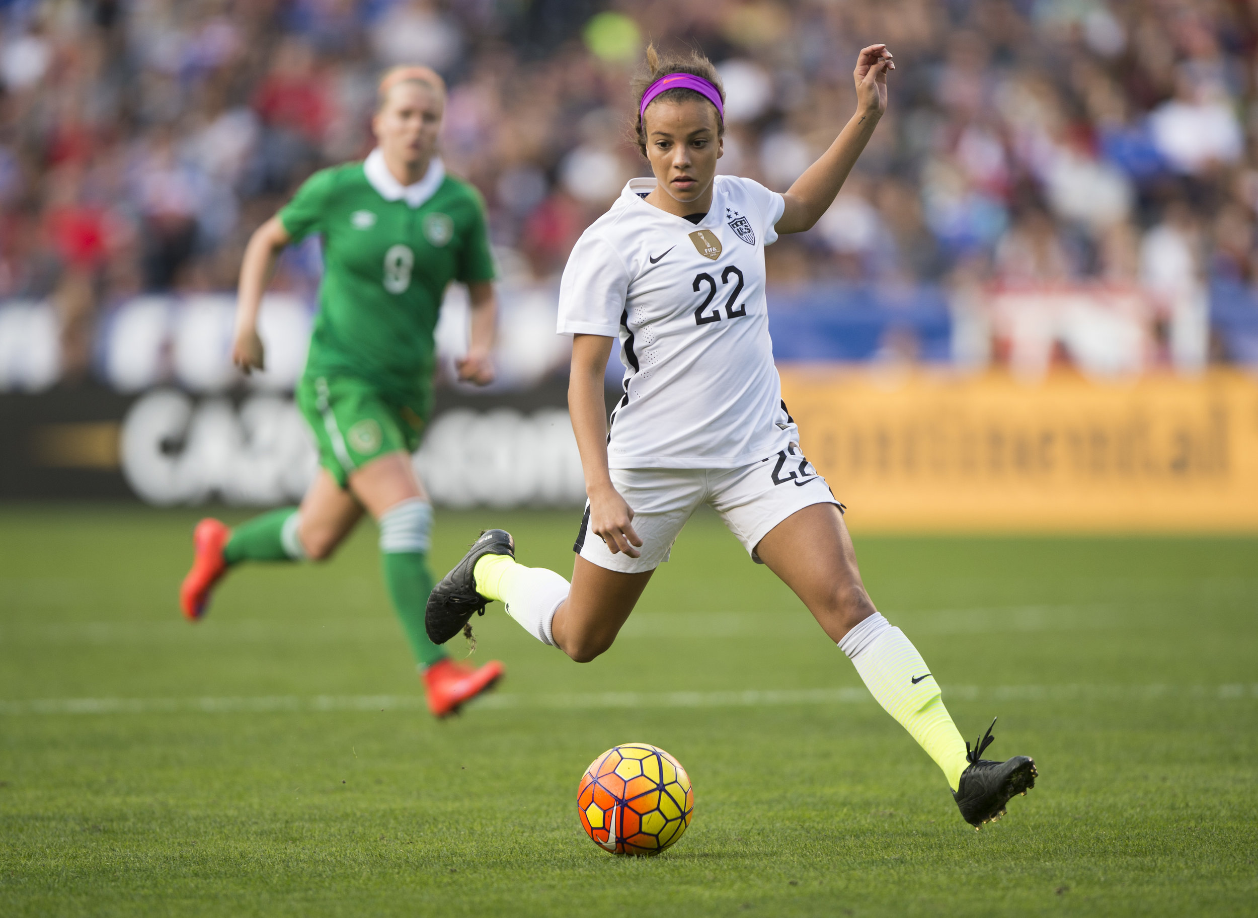 Mallory Pugh - San Diego, CA  January 23, 2016: The USWNT defeated Ireland 5-0 during an international friendly at Qualcomm Stadium. Photo by Brad Smith.
