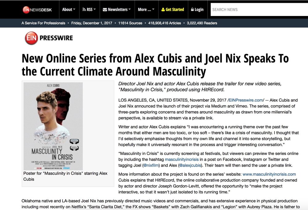 https://www.einnews.com/pr_news/418414573/new-online-series-from-alex-cubis-and-joel-nix-speaks-to-the-current-climate-around-masculinity