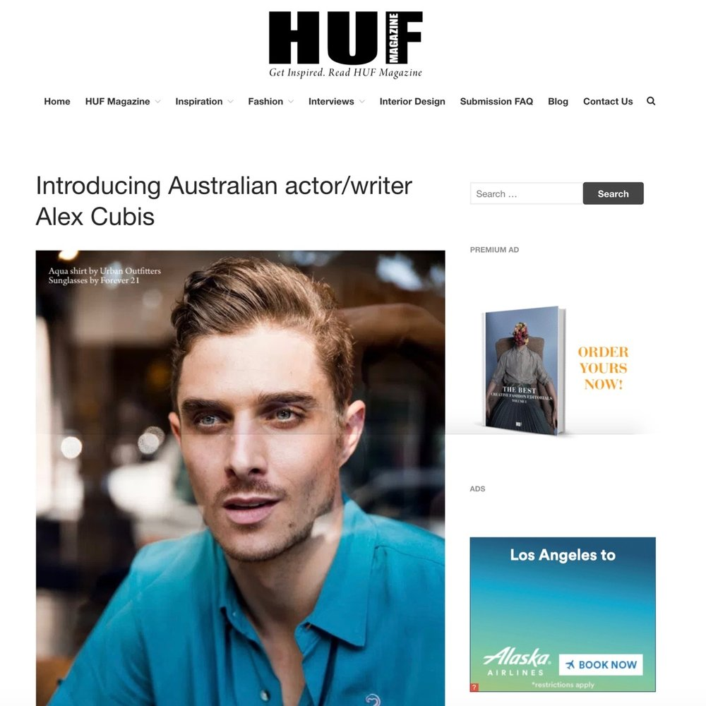http://hufmagazine.com/introducing-australian-actorwriter-alex-cubis/
