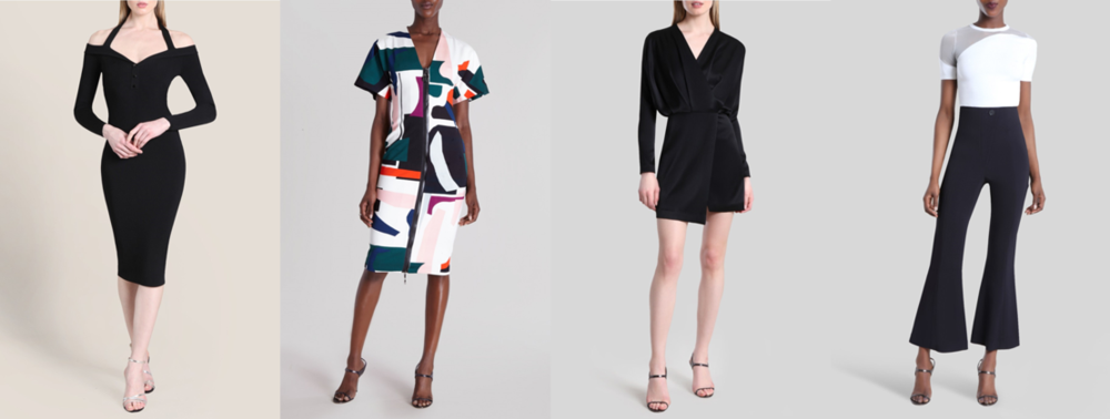Modern; bold; alluring; feminine; minimalist; sophistication