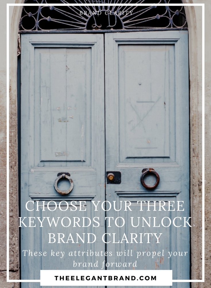 Choose 3 Keywords to Unlock Brand Clarity