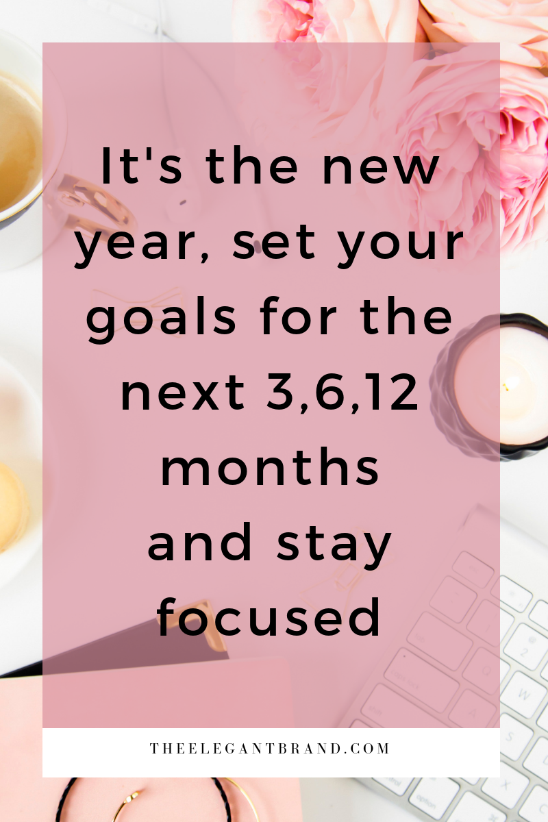 it's the new year set your goals for the next 3,6,12 months and stay focused