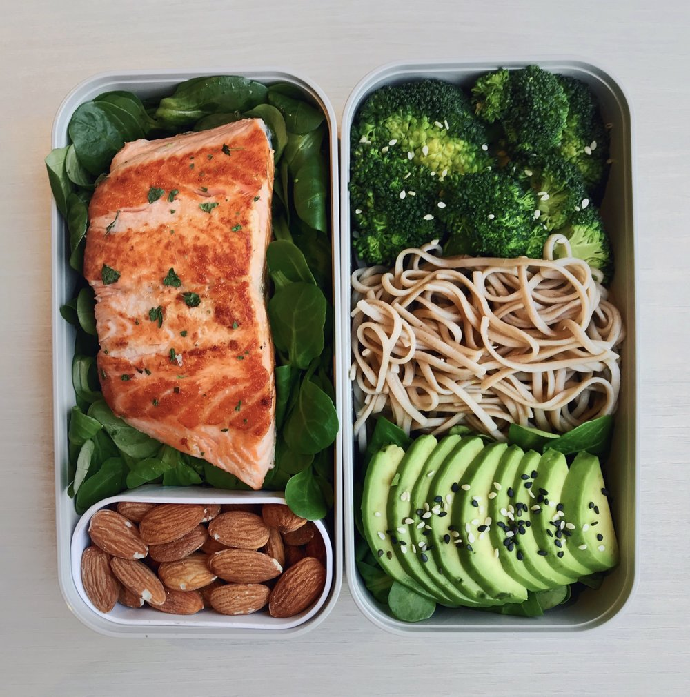 Grilled Salmon & Noodles