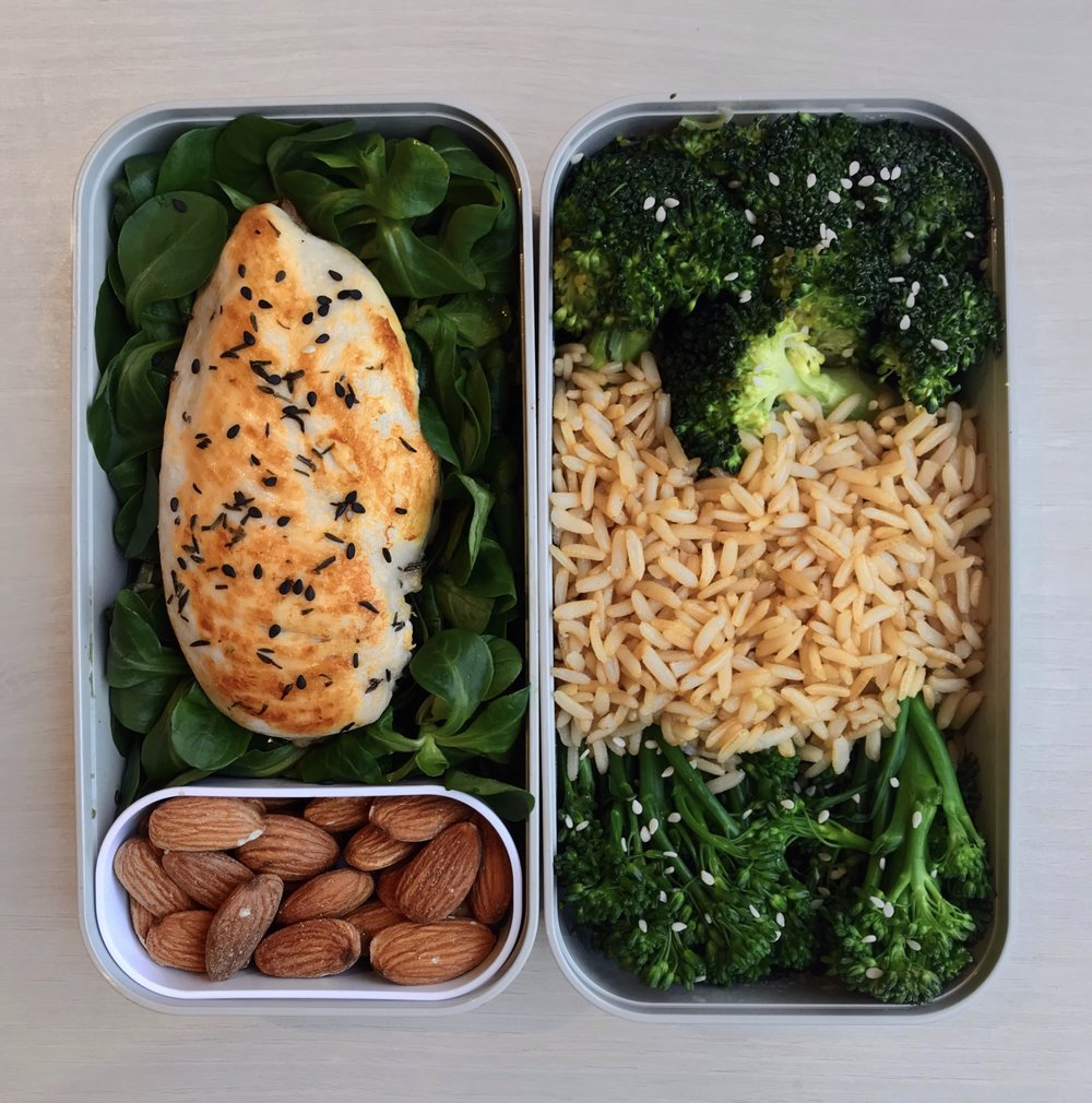 Grilled Chicken, Rice & Greens