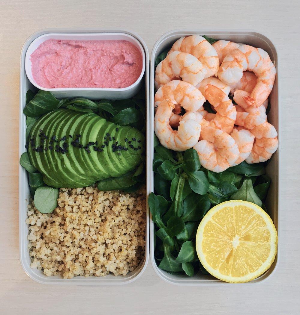 Shrimps, Quinoa & Avocado