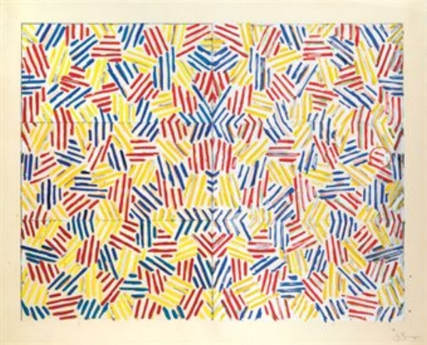 "Jasper Johns, CORPSE AND MIRROR (SCREENPRINT), 1976-77, 42.25"" x 53"" ed: 65"