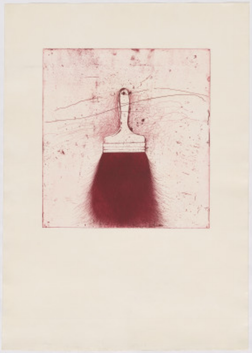 "Jim Dine, RED BEARD, 1973 [Williams 134], etching, 41.5"" x 31"" ed: 50"