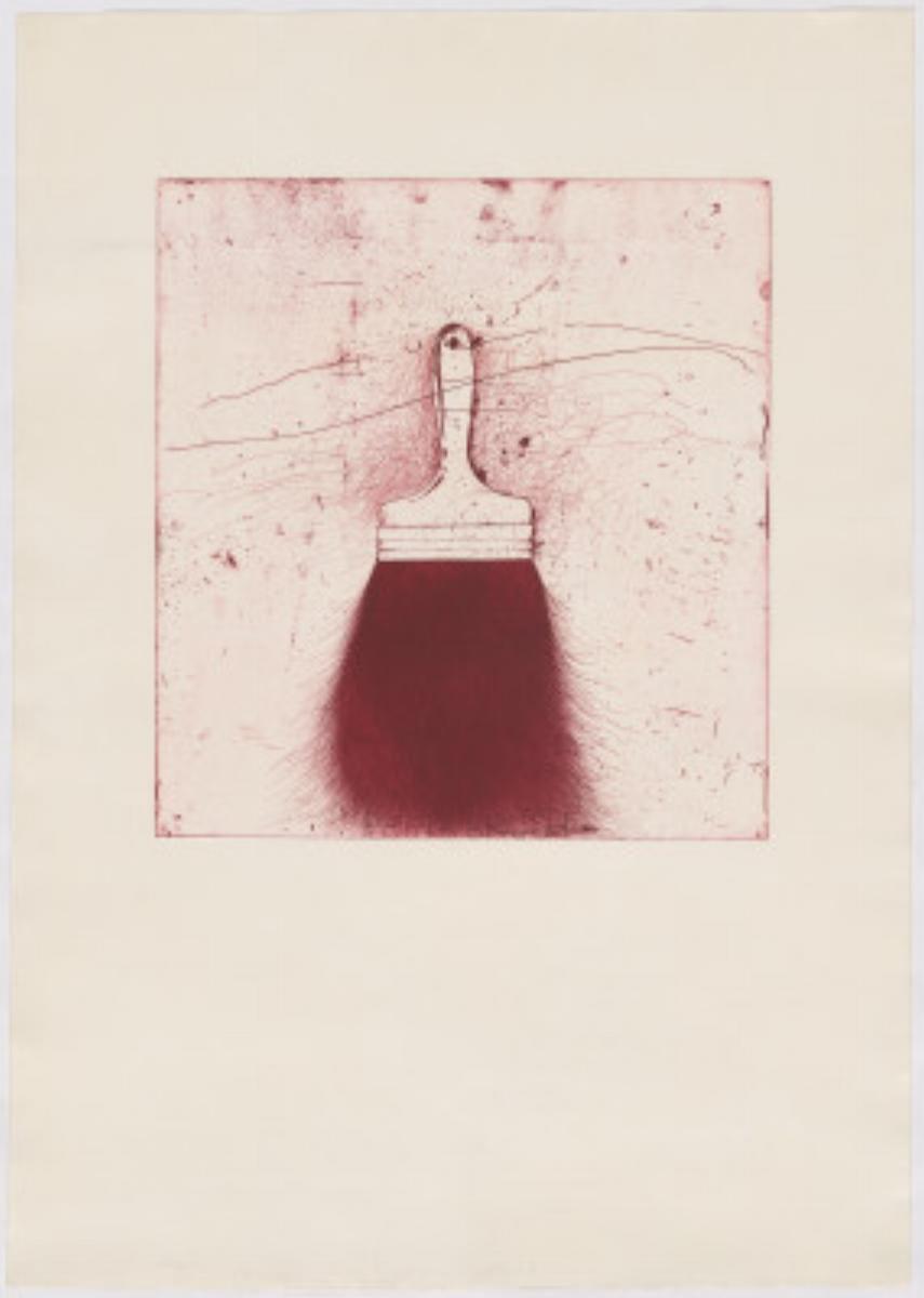 "Jim Dine, RED BEARD, 1973 [Williams 134], etching, 41.5"" x 31"" ed: 50"