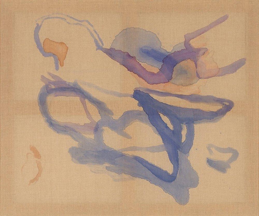"""Cora Cohen, SEASCAPE, 2015, watercolor on linen, 51"""" x 61"""""""