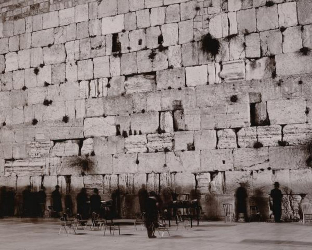 """Linda Connor, MIDNIGHT AT THE WAILING WALL, JERUSALEM, ISREAL, 1995, archival pigment print, 17"""" x 22"""" ed: 15"""