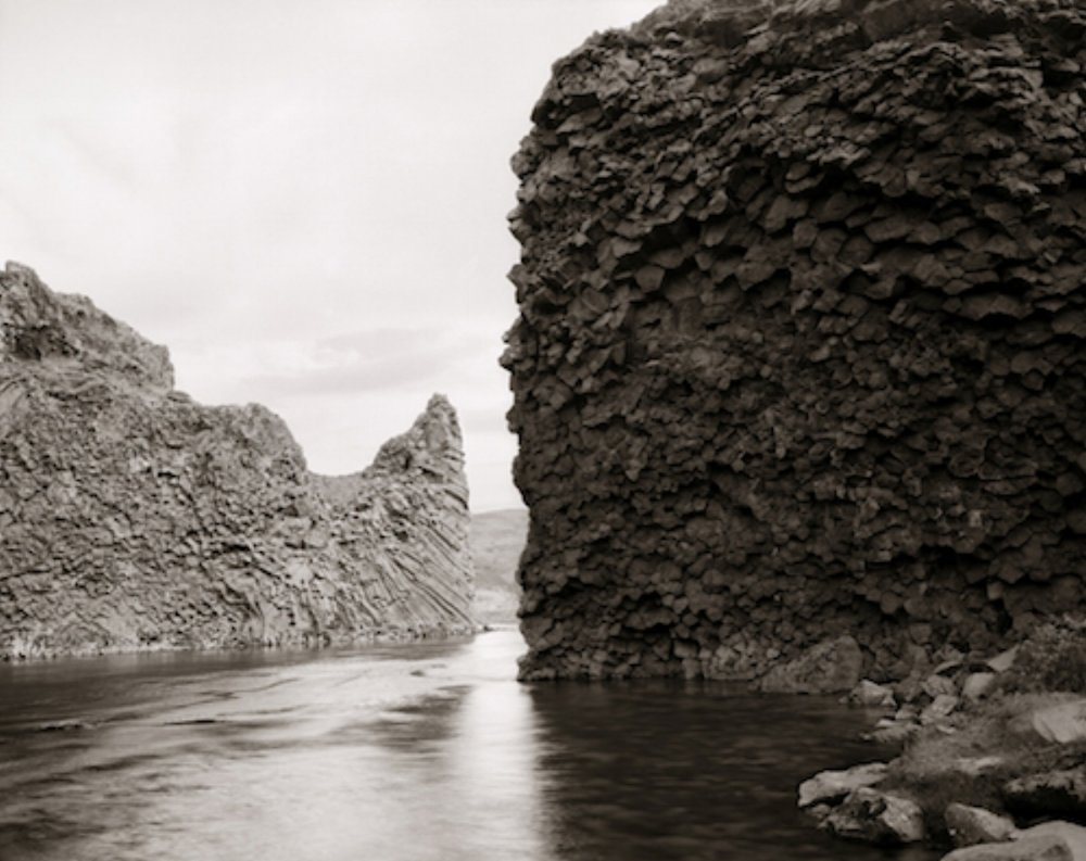 "Linda Connor, BASALT ROCK AND STREAM, ICELAND, 2008, archival pigment print, 24"" x 30"" ed: 15"
