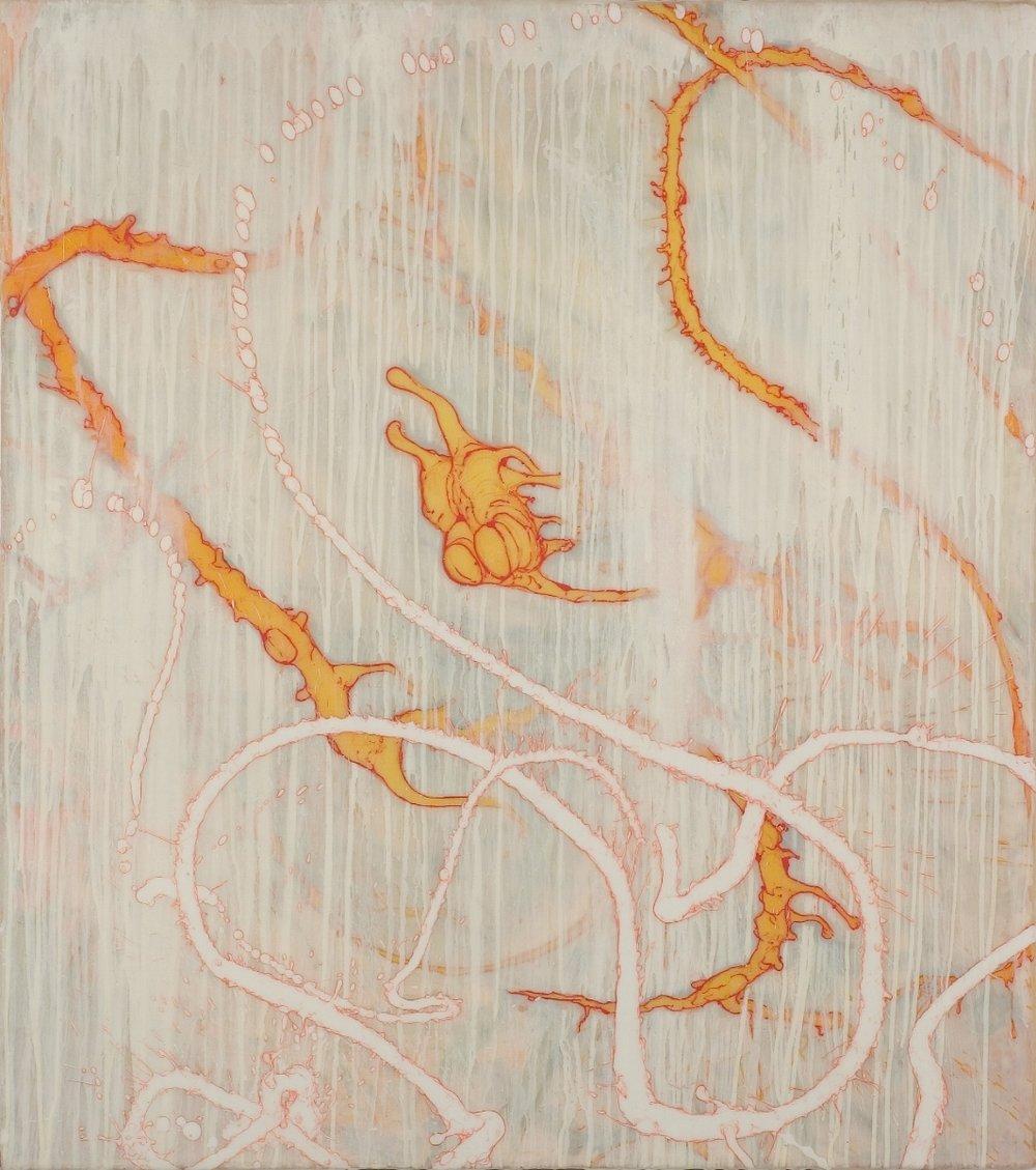 """Jonathan Feldschuh, NEVER GROW SO OLD AGAIN, 2005, acrylic on canvas over panel, 36"""" x 32"""""""