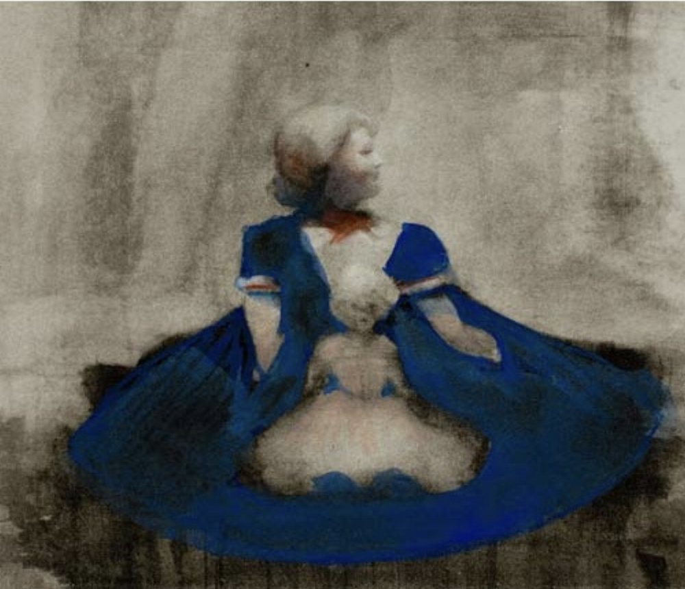 "Ellen Phelan, A DOLL, HER STORY (STREET SCENE: MEMORY OF DETROIT), 1995, portfolio of eight photogravures with hand coloring, 13"" x 16"" ed: 28"