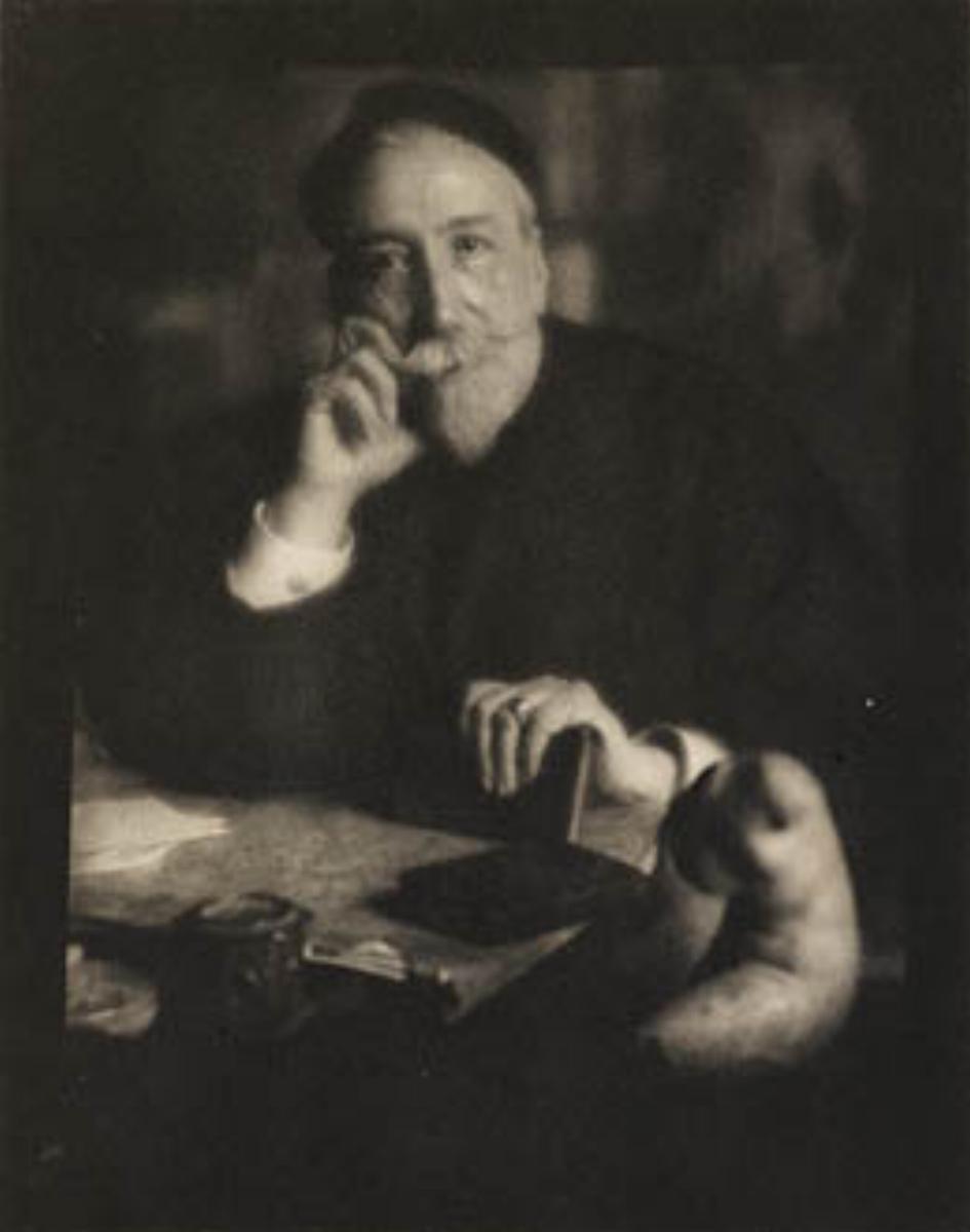 "Edward Steichen, ANATOLE FRANCE, 1913 [Camera Work XLII/XLIII], photogravure, 8"" x 6.25"""