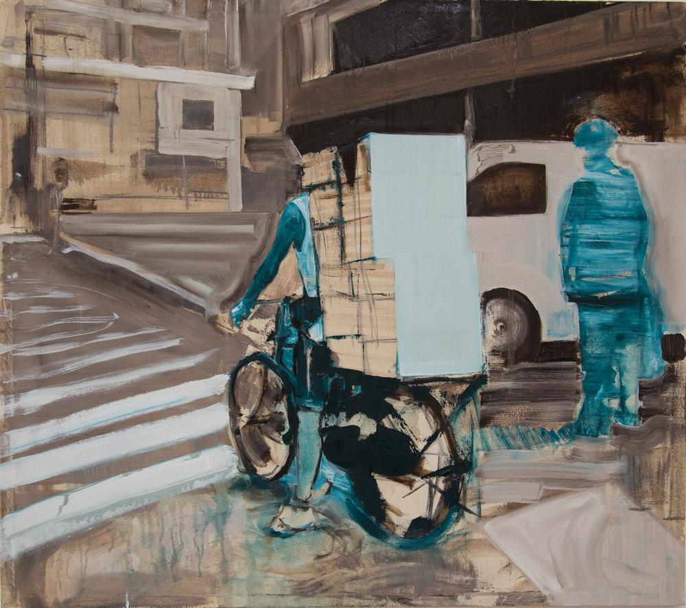 11 Blue Bike, oil on canvas, 95x106cm.jpg