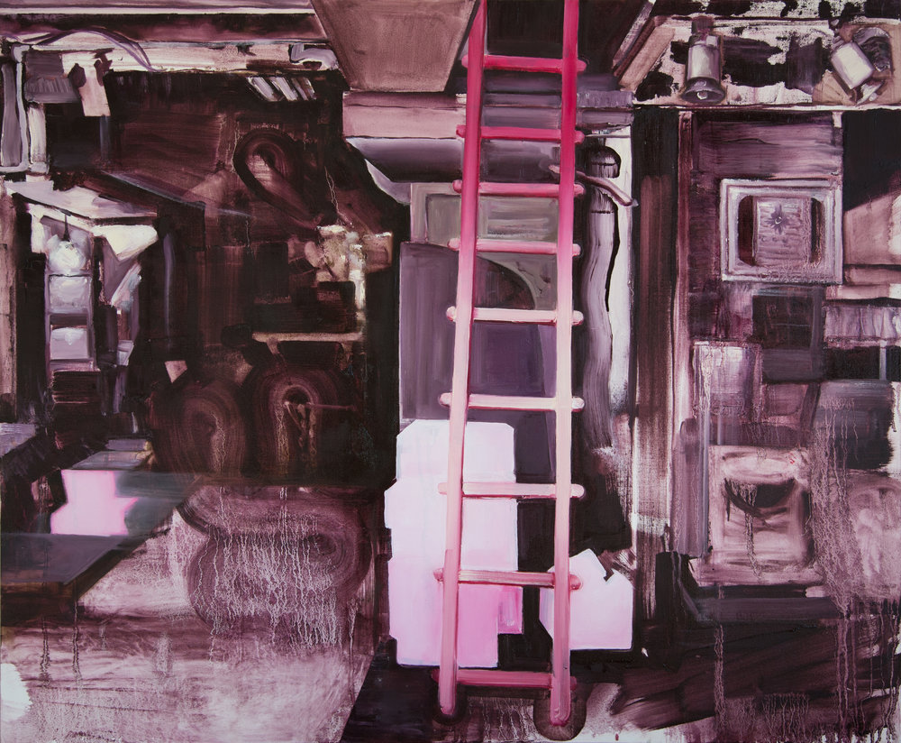 14 Ladder, oil on canvas, 83x100cm.jpg