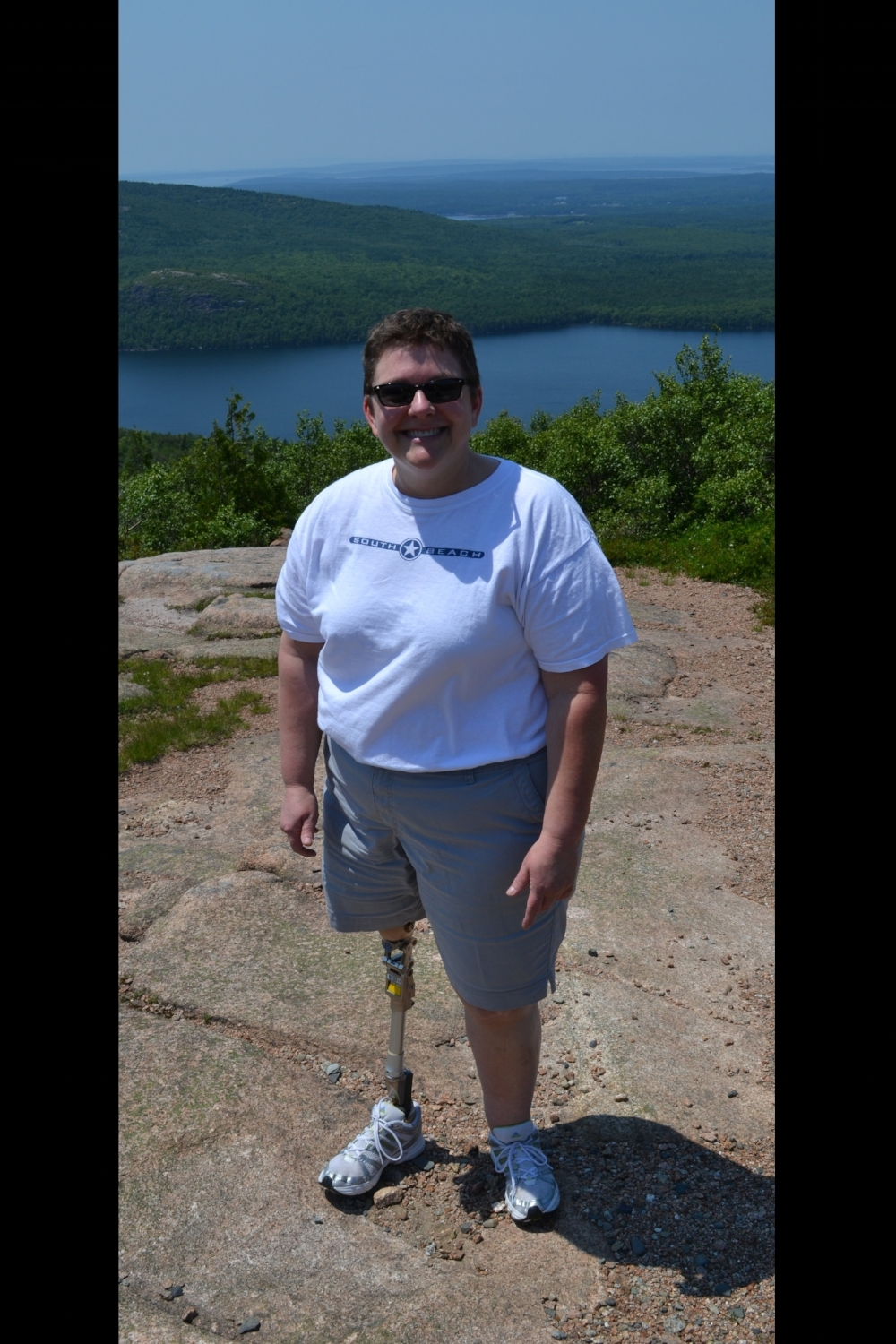 Me - on top of Cadillac Mountain in Maine, USA -