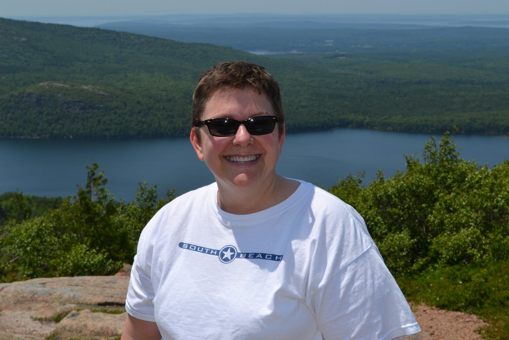 This is me on top of Cadillac Mountain in the Acadia National Park, Maine, USA. -