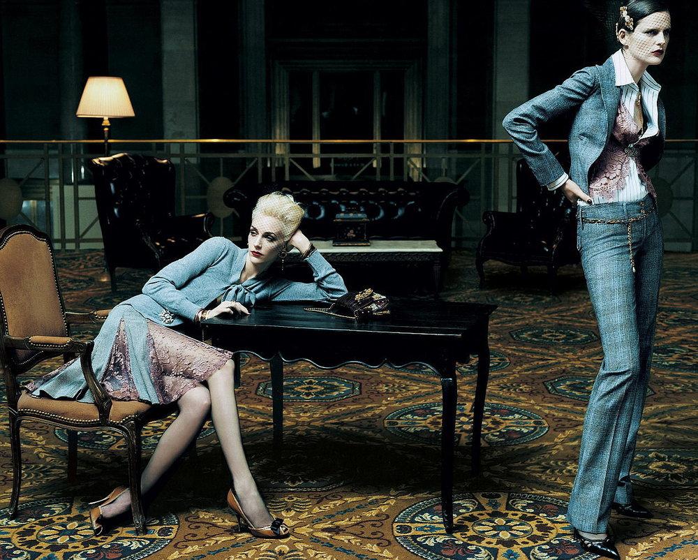 Hannelore Knuts by Steven Meisel for Dolce & Gabbana F/W 2004.