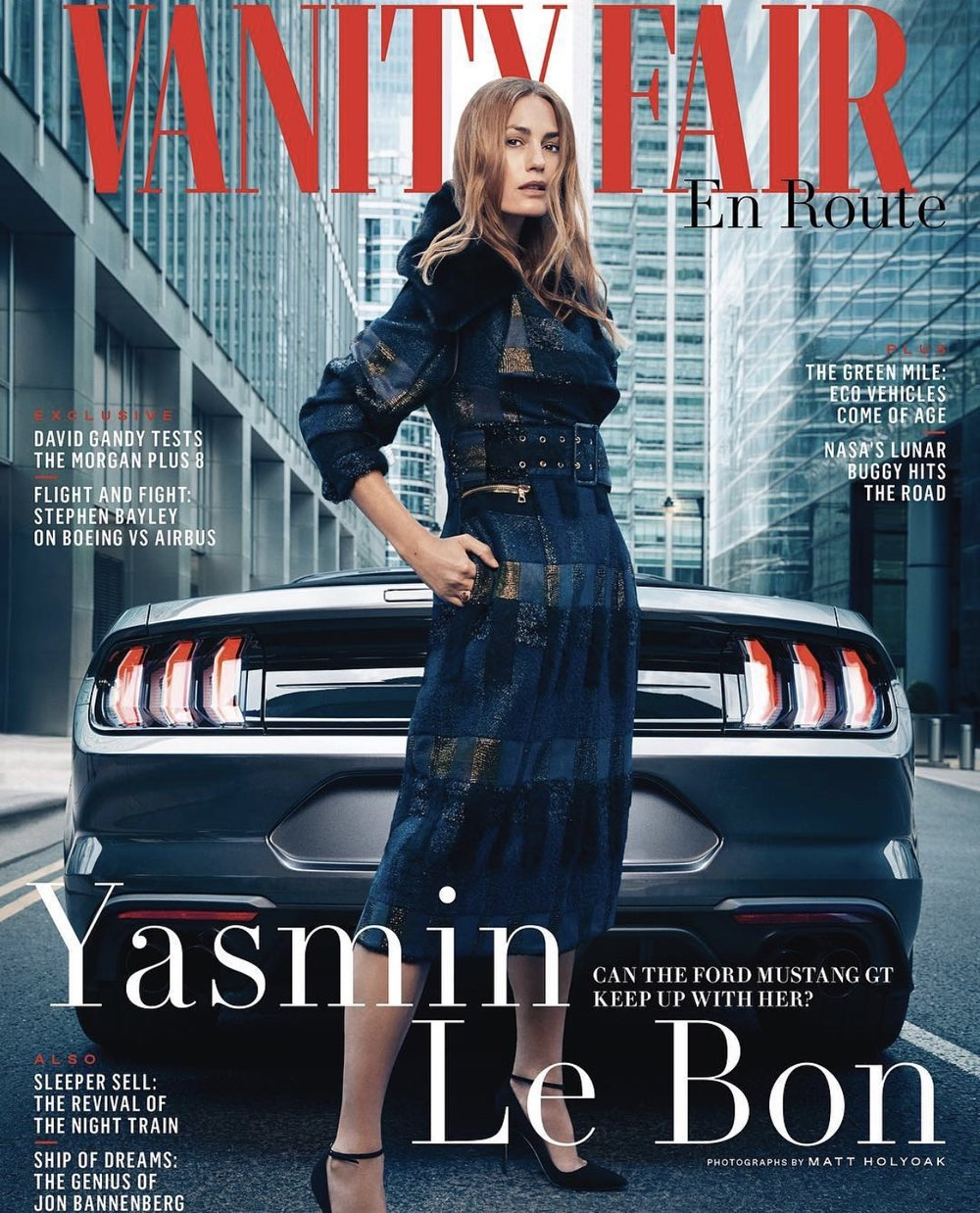 Yasmin Le Bon for Vanity Fair (En Route)