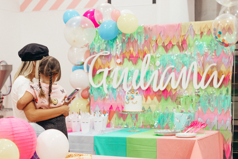 THIS IS 4 A UNICORN THEME BIRTHDAY PARTY