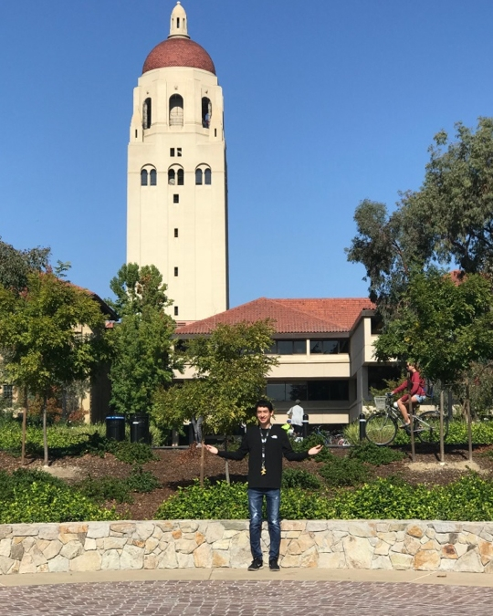 Ruben Rodriguez enjoying Stanford.
