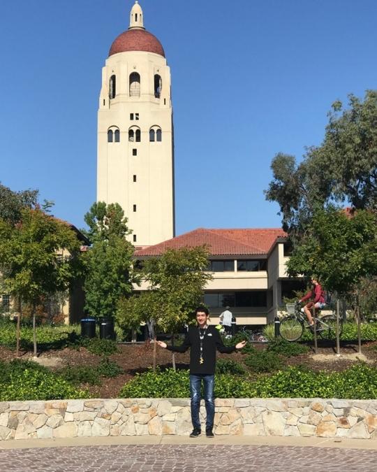 Ruben Rodriguez enjoying Stanford.