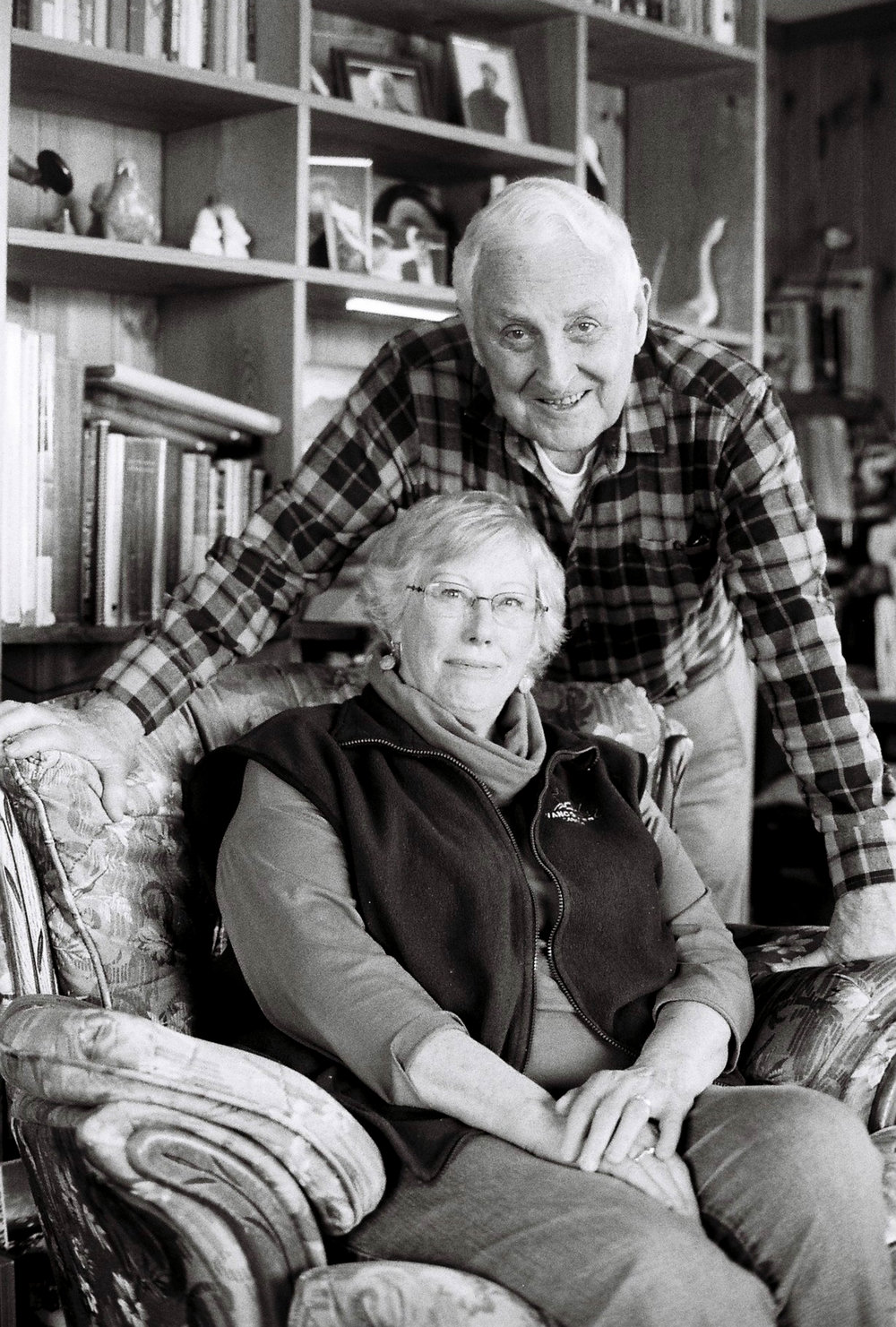 Wayne and Cindy Merry in their home in Atlin, BC