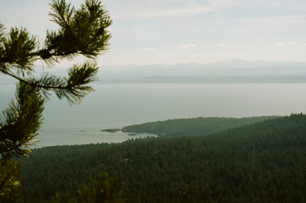 View from the top of Mount Trematon, highest point on the island.