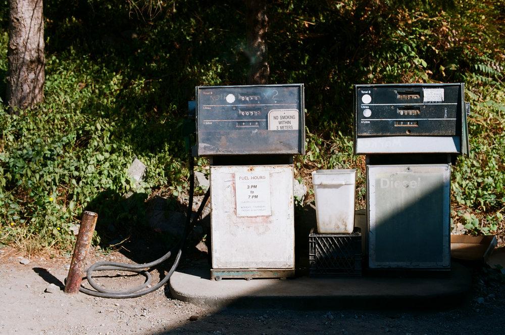 Lasqueti gas station.