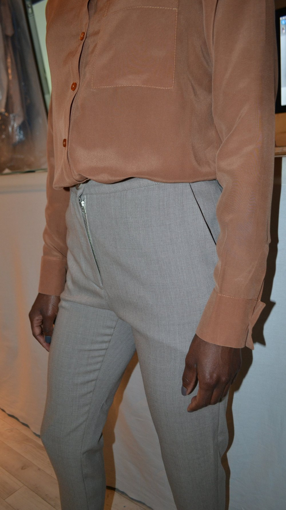 TWO CHIFFON SHIRTS & TAILORED TROUSERS                                                                                                     BESPOKE ORDER                                                                       PATTERN CUT AND SEWN BY ME. CLICK   HERE   TO SEE MORE.