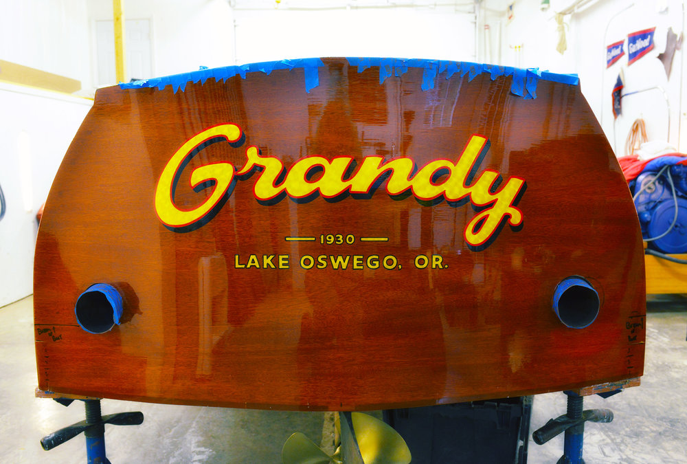 Justin's handiwork... a beautifully executed typographic solution for  Grandy