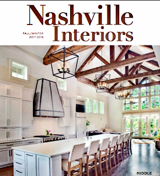 Atmosphere 360 Studio was featured in Nashville Interiors in the Fall/Winter 2017/2018 issue.