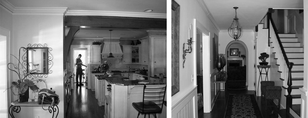 Kitchen and stairway hall prior to renovation