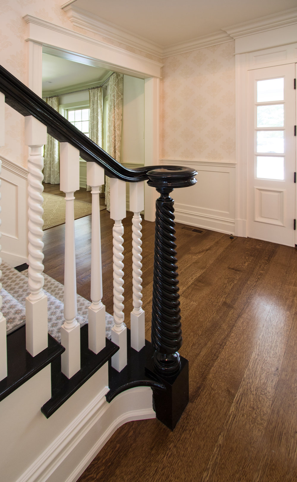Custom newel post and  custom balustrade
