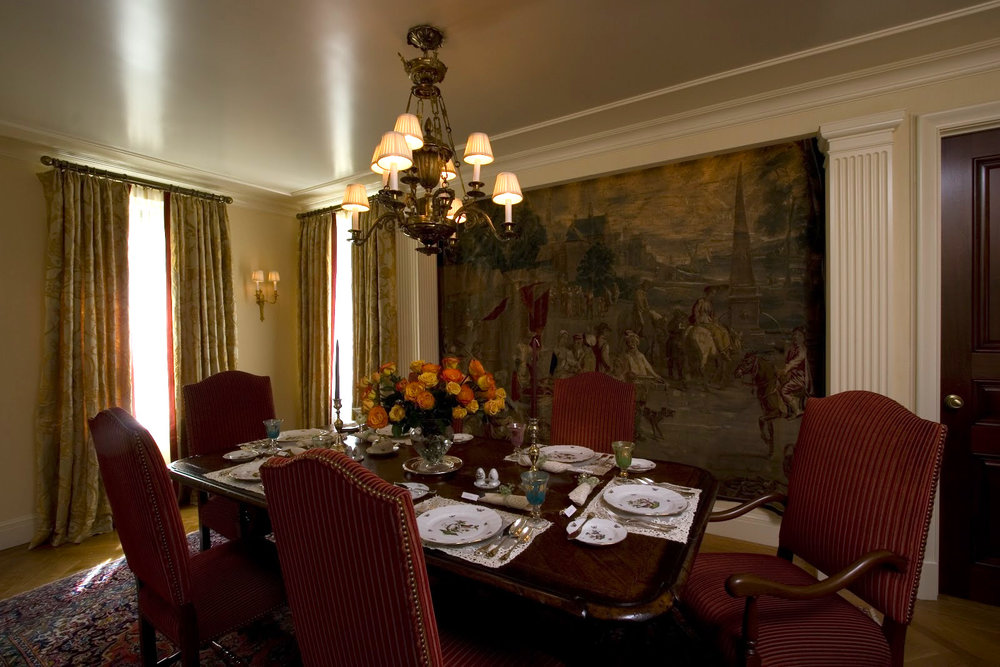 "Dining Rooms  The minimum dining room size is 12' X 12' this allows for proper circulation around the table and allows for 6 people to fit graciously...more if you are good friends.   Chandeliers   or pendant lights should be approximately 36"" above the table/counter surface."