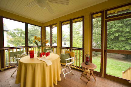 From the first signs of spring until the end of fall, porches are great places to entertain day and night.
