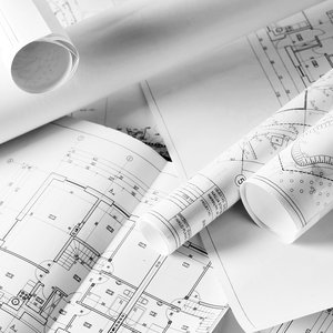 rolled plans working with an architect.jpg
